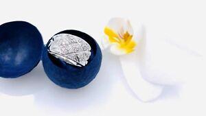 Eleganter Diamant-Damenring 585/14K GG rhodiniert mit 30 Brillanten 0,58 ct!