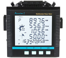 AccuEnergy Acuvim II-D-5A-P1,  LCD Power Meter 10-415VAC, 50/60Hz, 100-300VDC