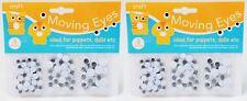 Moviendo ojos redondos 3 Tamaños Crafting Tarjetas Muñecas Juguete fijación reparación Kids Niños