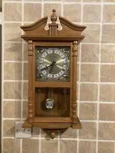 Daniel Dakota Light Wood Westminster Chime Chiming Wall Clock