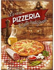 """Nostalgic Art - Kühlschrank-Magnet  """"PIZZERIA""""  Pizza  -  6x8 cm - Metall - NEU"""