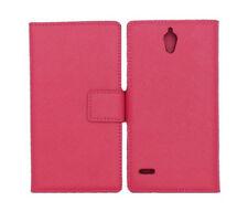 Bookstyle Case für Huawei Ascend G700 pink mit Kartenfächer Tasche Etui Hülle