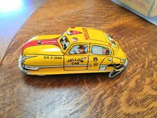 YELLOW TAXI CAB Action Toy 40's V RARE MINT Early Marx Toys Wind-Up