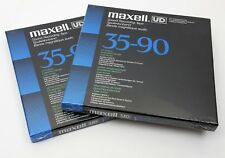 """2 Lot New SEALED MINT - Maxell UD 35-90 7 inch Reel to Reel Tape 1/4"""" 1800'"""