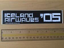 Iceland Airwaves 05 2005 Music Festival Sticker Reykjavik 7 x 1.5 inch 18 x 4 cm