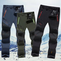 Winter Outdoor Men's Pants Soft Shell Tactical Cargo Hiking Climbing Trousers