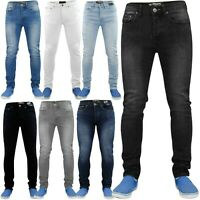 MENS DENIM SUPER STRETCH SKINNY SLIM FIT JEANS ALL WAIST & LEG SIZES UK