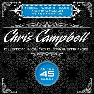 CHRIS CAMPBELL CUSTOM NICKEL WOUND 4-STRING BASS STRINGS #6003 MEDIUM GAUGE