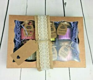 LADIES LUXURY BIRTHDAY CANDLE GIFT PAMPER HAMPER BASKET FOR HER MUM FRIEND NAN