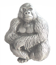 Silverback Gorilla Pewter Brooch Pin Badge