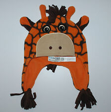 Mütze~Neu~Babymütze~USA~Giraffe~12-24 Monate~Kindermütze~Tierfellmuster~orange