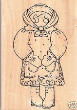 Country Girl Mounted Rubber Stamp - By Jrl Designs!