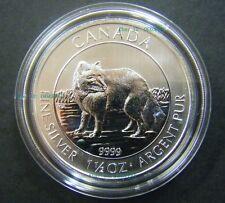 2014 Canada $8 1.5oz 1 1/2oz Arctic Fox .9999 Fine Silver Bullion coin round BU