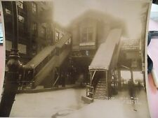 GREAT 1915 Cortland & Greenwich NYC New York City 9 Av El Subway Photo