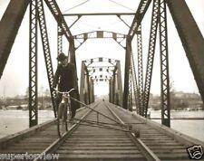 Vintage Bicycle Made For Train Tracks Railroad Bike On Bridge Antique Rail Bike
