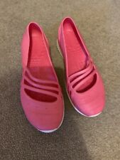Ladies Pink Adidas Jelly Shoes Size 4