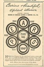 1887 ANTIQUE PRINT- ADVERT-PEARS SOAP-OPTICAL ILLUSION
