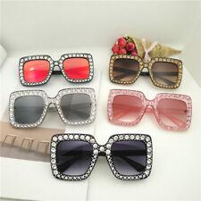 Women Luxury Oversize Square Sunglasses Cat Eye Bling Glasses Fashion Hot Sell