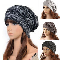Womens Mens Unisex Winter Warm Knitted Beanie Hat Ski Slouch Knit Cap One Size