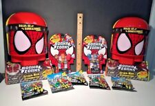 BONKA ZONKS SPIDERMAN Series 1 HEADQUARTERS + BLIND BAGS  + CARDS NIP Lot of 9