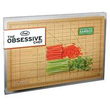 Fred The Obsessive Chef Chopping Cutting Board Kitchen Wooden Bamboo 9x 12""
