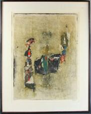 Johnny Gotthard Friedlaender, Composition in Red & Green Signed Mid Century MCM