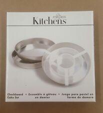 Fox Run Kitchens Checkerboard Cake Set Novelty Cake Pan - 4799
