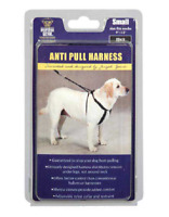 Anti No Pull Dog Harness Black Adjustable Comfortable Small or XL Guardian Gear