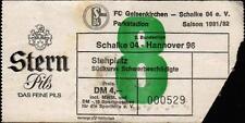 Ticket II. BL 81/82 FC Schalke 04 - Hannover 96, Südkurve