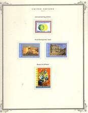 1¢ WONDER ~ UNITED NATIONS NEW YORK MODERN MH ON SCOTT PAGES~V196