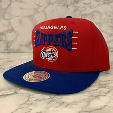 MITCHELL & NESS HATS LOS ANGELES CLIPPERS RED/BLUE ADJUSTABLE MEN SIZE