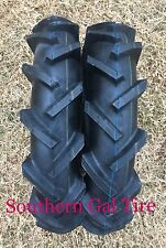 2- 400-8 4x8 DEESTONE  LUG Tubeless Tractor Tires Tiller Tires 4ply 4.00-8 4008