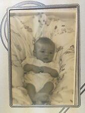 PHOTOGRAPH 1930'S BABY ART DECO MATTING