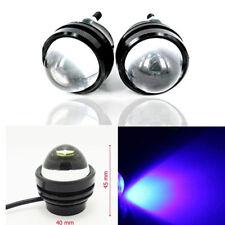 2pcs Blue High Power Car Eye Bright 5W LED Projector Fog Light DRL Lamps 12V