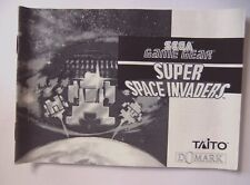 52165 Instruction Booklet - Super Space Invaders - Sega Game Gear (1992)