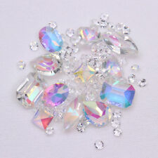 Transparent Nail Rhinestones Marquise Heart Sharp Bottom 3D Nail Art Decoration