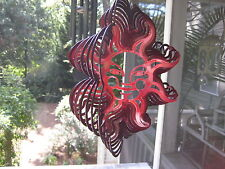 "12"" WIND SPINNERS 3-D REFLECTVE WITH SUN FACE - YARD ART"