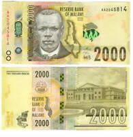 MALAWI 2000 Kwacha Banknote (2016) P-69 UNC Banknote Paper Money