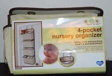 "Delta Sos 4 pocket Nursery Organizer Brown/Tan New But - ""No Hooks"""