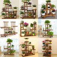5 Étagère à Plante Fleur Porte Pots Support Jardin Présentoir en Bois Bonsaï
