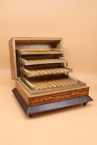 VINTAGE WOODEN CIGARETTE AND MUSIC BOX