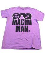 WWF Macho Man Shirt purple Wrestling Legend