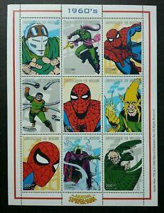 [SJ] Guinea Comic Spiderman 1999 Marvel Superhero Cartoon (sheetlet) MNH
