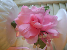 Pink~Open Rose Pin Corsage~Wrist~Boutonniere~wedding~Prom~party~Ouinceanera