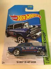 Hot Wheels '55 Chevy Bel Air Gasser Blue