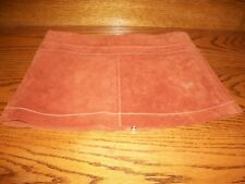WET SEAL WOMEN'S ZIP FRONT BROWN LEATHER MINI SKIRT SIZE 0  NICE Used skirt