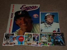 LOT OF GARY CARTER MONTREAL EXPOS SIGNED AUTOGRAPHED CARD, YEAR BOOK, CARDS+