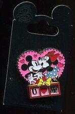 Mickey Minnie Valentine's Day Slider I U Love Me Disney Pin