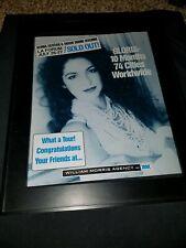 Gloria Estefan Rare Original L.A. Forum William Morris Promo Poster Ad Framed!