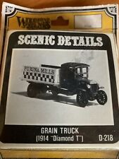 Woodland Scenics D218 HO-Scale KIT 1914 Diamond T Grain Truck Cast in Metal